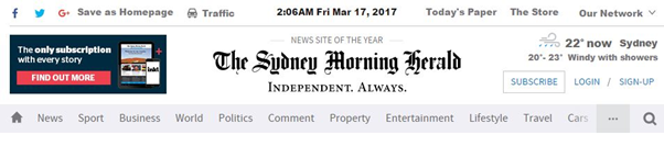 Sydney morning herald smh