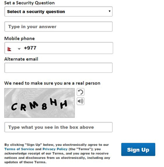 aol mail security question