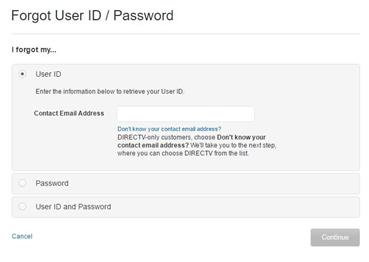 att net email login user id recover