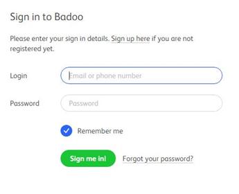 Badoo email address