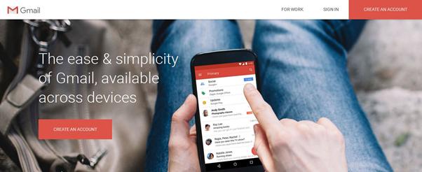 gmail homepage