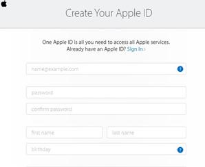 how to create apple id free