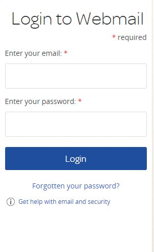 how to login to TalkTalk webmail