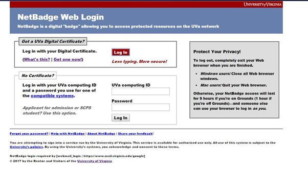 how to login uva email