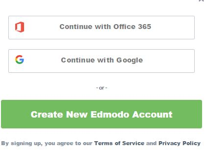 new free edmodo account