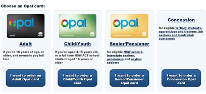 opal card login adult youth senior