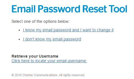roadrunner webmail login password reset tool