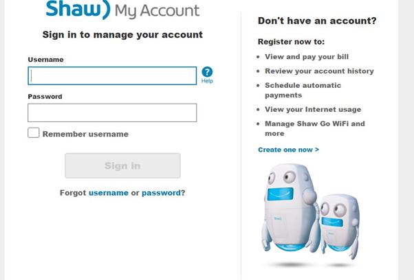 shaw webmail login my account