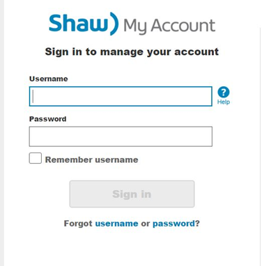 how to change my shaw email password