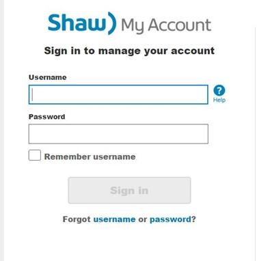 shaw webmail login problems