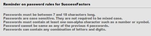 success factors password rules