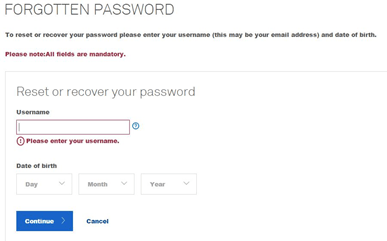 telstra webmail login problem forgot password