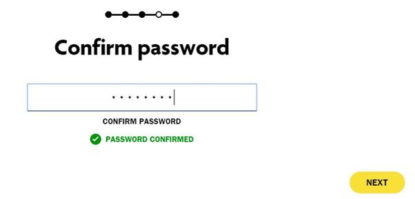 tiaa cref confirm password