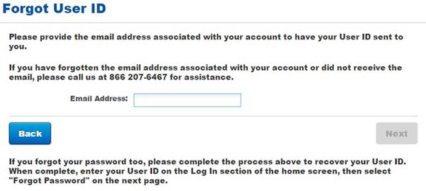 tiaa cref forgot user id