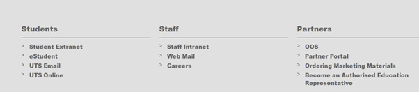 uts insearch homepage