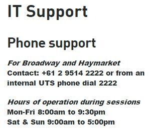 uts it support