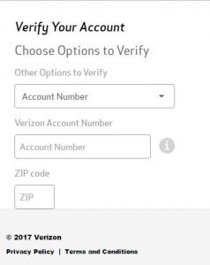 verizon account verification