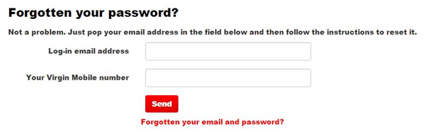 virgin media forgot password