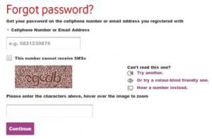 vodamail login password recover