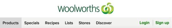 woolworths homepage