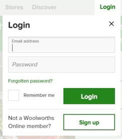 woolworths login