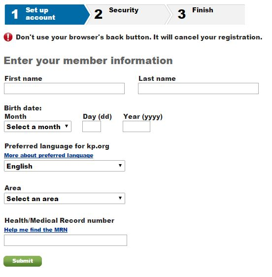 Kaiser Permanente login sign up