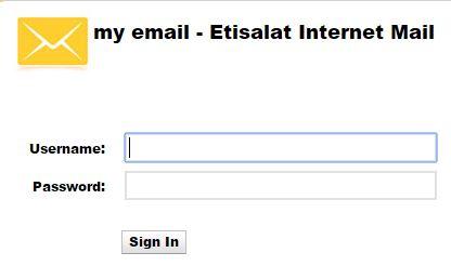 Etisalat Mail Login Etisalat Mail Sign in www etisalat ae