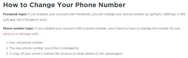 lyft driver login problem change phone number