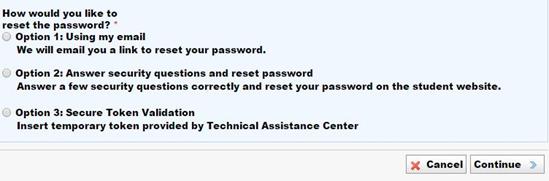 university of phoenix password recover