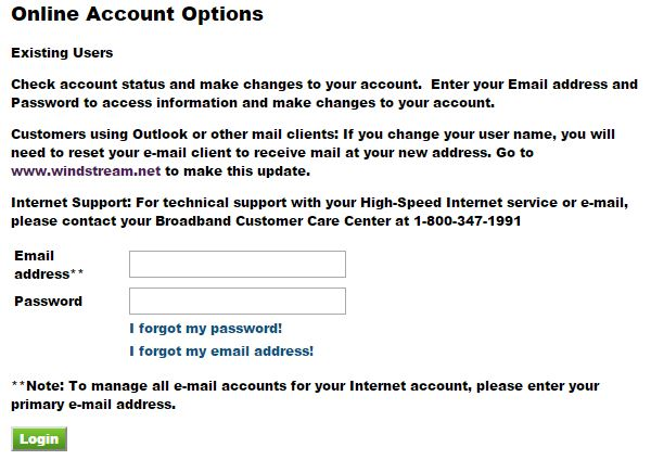 windstream account option
