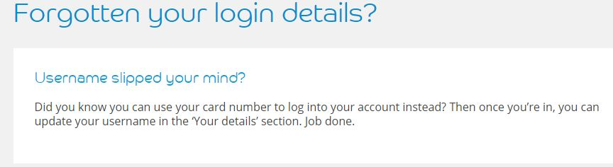 Barclay card forgot login