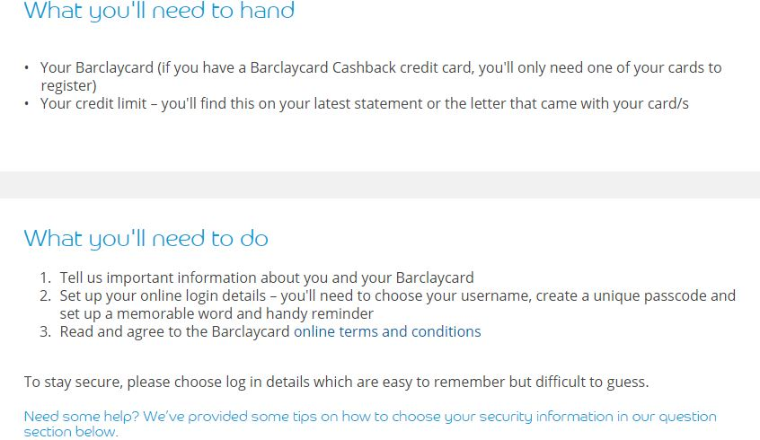 Barclay card login