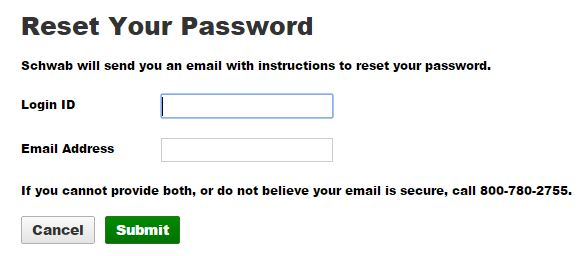 Charles schwab reset password