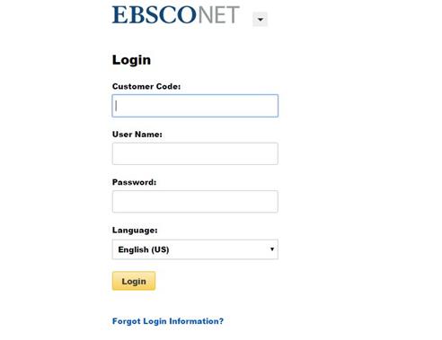 ebsco account login