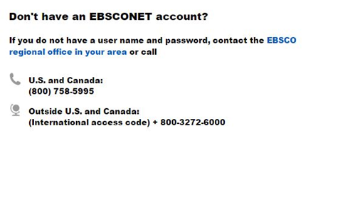 ebsconet account