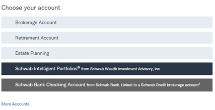 open Charles Schwab account