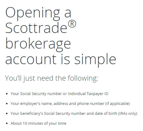 scottrade brokerage account
