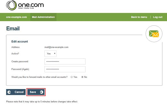 one webmail login email change