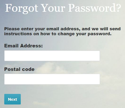 eharmony reset password