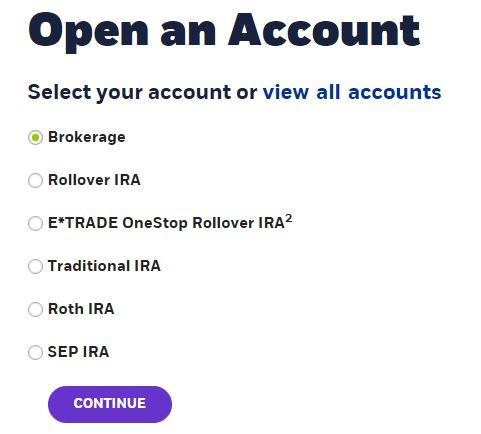 Etrade options account requirements