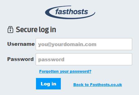 fasthosts login