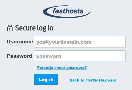 fasthosts login