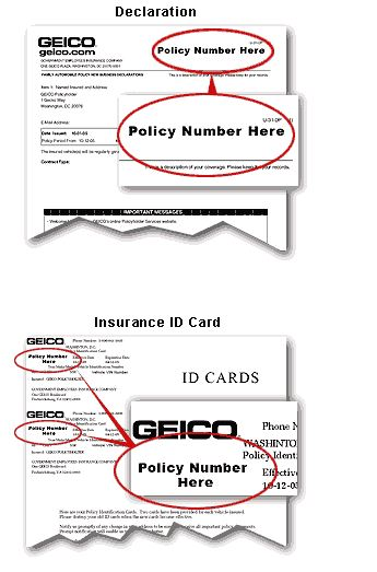 geico policy number