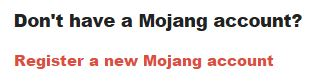 mojang account register