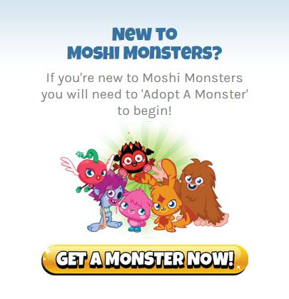 create Moshi Monsters login account