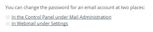 one webmail login password reset