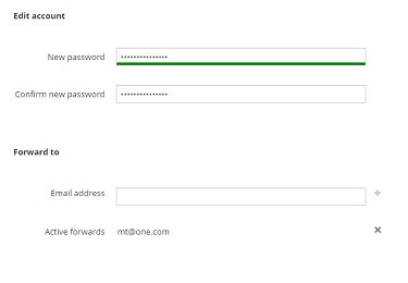 edit one webmail login account