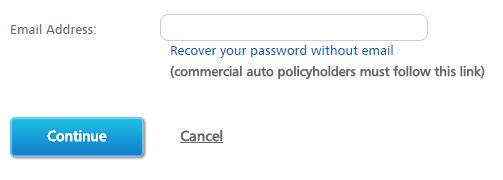 recover Progressive account login password