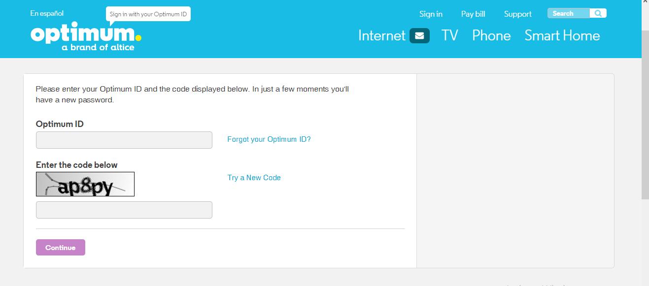 optimum id login