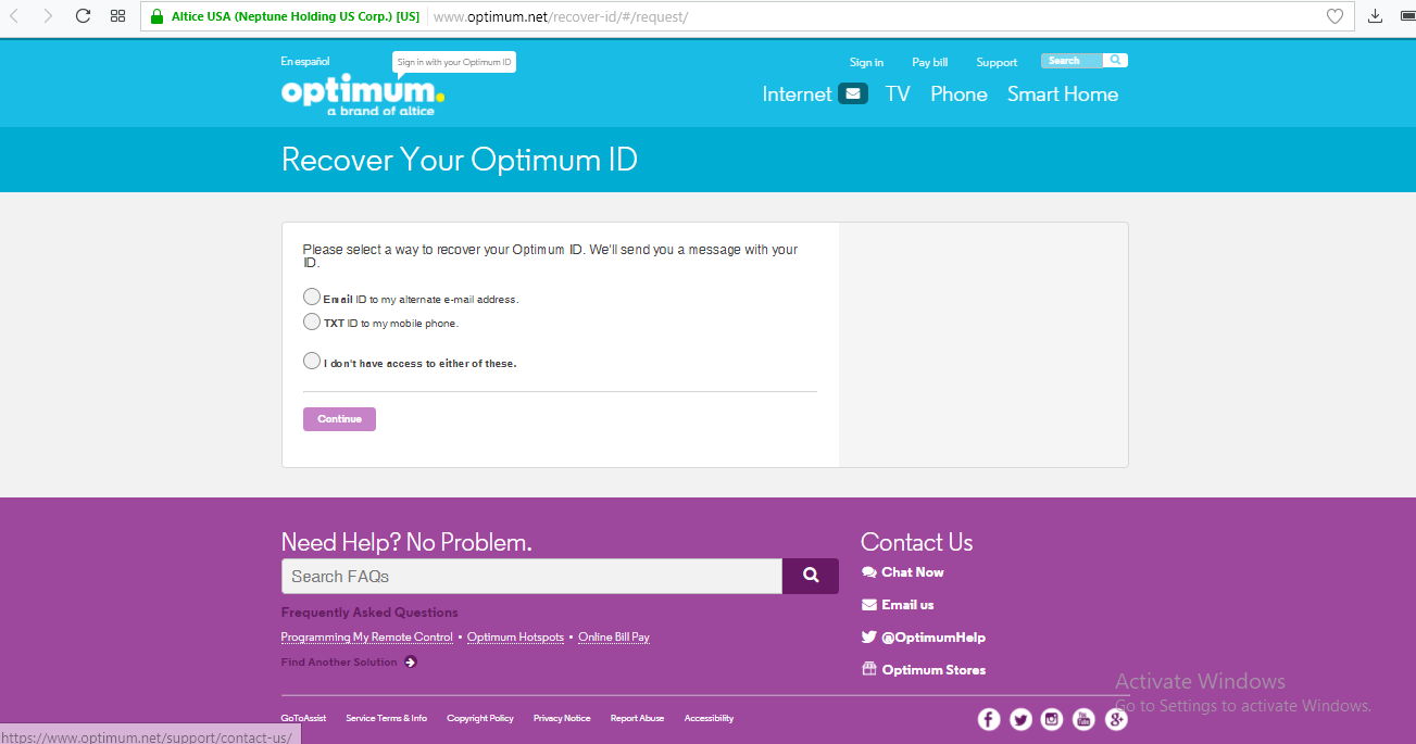 recover optimum id